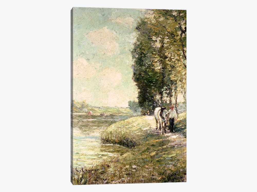 Country Road to Spuyten, Duyvil, New York  by Ernest Lawson 1-piece Canvas Print