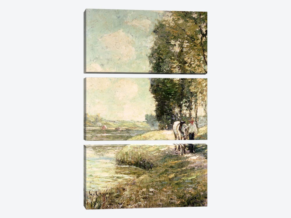 Country Road to Spuyten, Duyvil, New York  by Ernest Lawson 3-piece Canvas Print