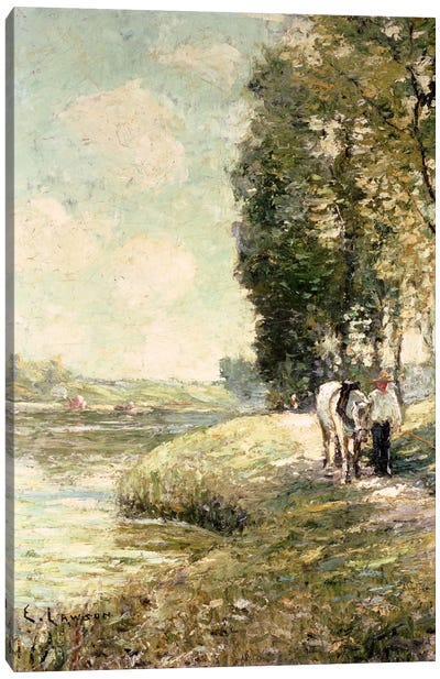 Country Road to Spuyten, Duyvil, New York  Canvas Art Print
