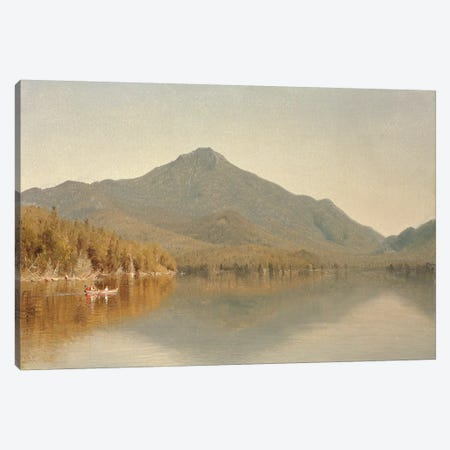 Mount Whiteface from Lake Placid, in the Adirondacks, 1863  Canvas Print #BMN4762} by Sanford Robinson Gifford Canvas Print