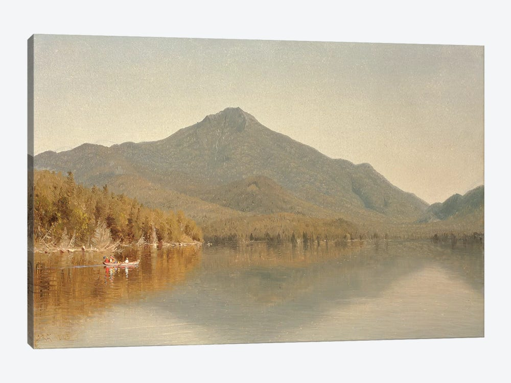 Mount Whiteface from Lake Placid, in the Adirondacks, 1863  by Sanford Robinson Gifford 1-piece Canvas Art