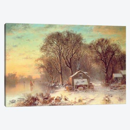 Winter in Malden, Massachusetts, 1864  Canvas Print #BMN4767} by Thomas Doughty Canvas Wall Art