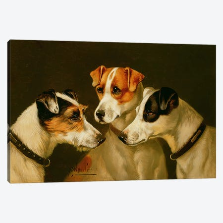 The Hounds Canvas Print #BMN476} by Alfred Wheeler Canvas Wall Art