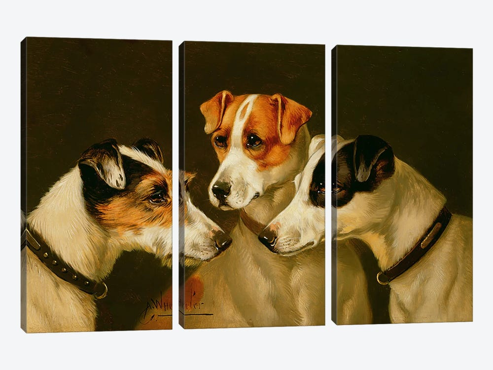 The Hounds by Alfred Wheeler 3-piece Art Print