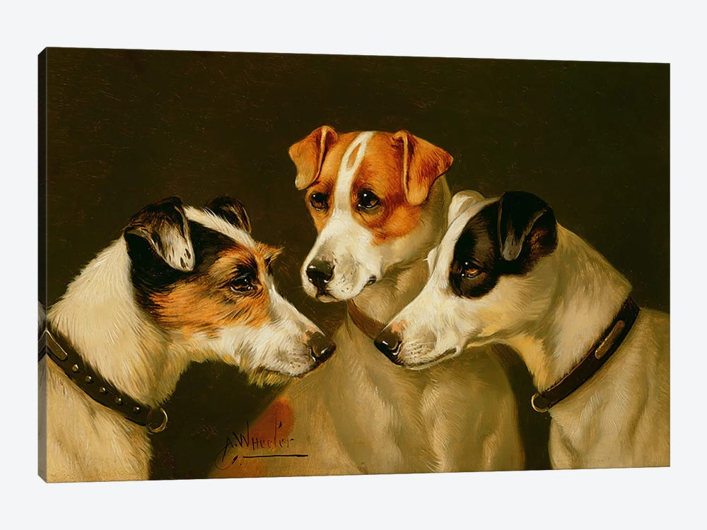 The Hounds by Alfred Wheeler 1-piece Canvas Art Print
