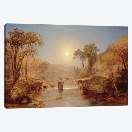 Indian Summer on the Delaware River, 1882  Canvas Print #BMN4770} by Jasper Francis Cropsey Canvas Art