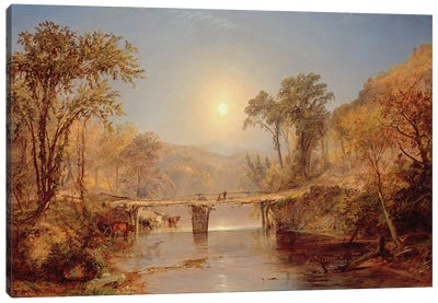 Indian Summer on the Delaware River, 1882  Canvas Art Print