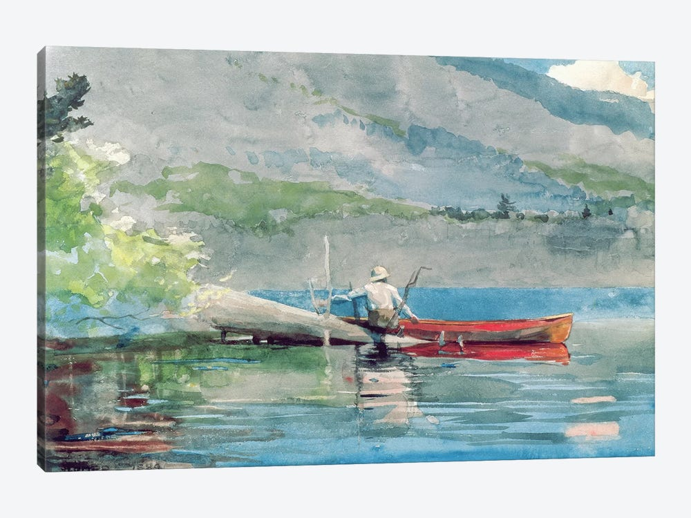 The Red Canoe, 1884  by Winslow Homer 1-piece Canvas Wall Art