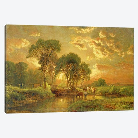 Medfield, Massachusetts  Canvas Print #BMN4777} by George Inness Sr. Canvas Art Print