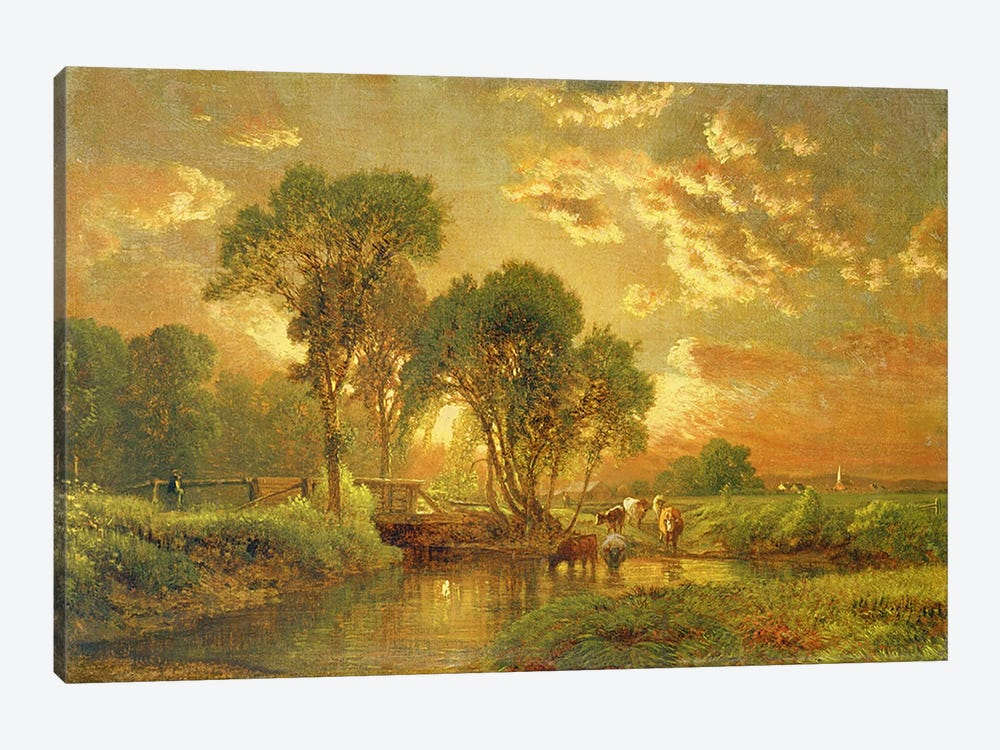 Medfield, Massachusetts by George Inness Sr. 1-piece Canvas Wall Art