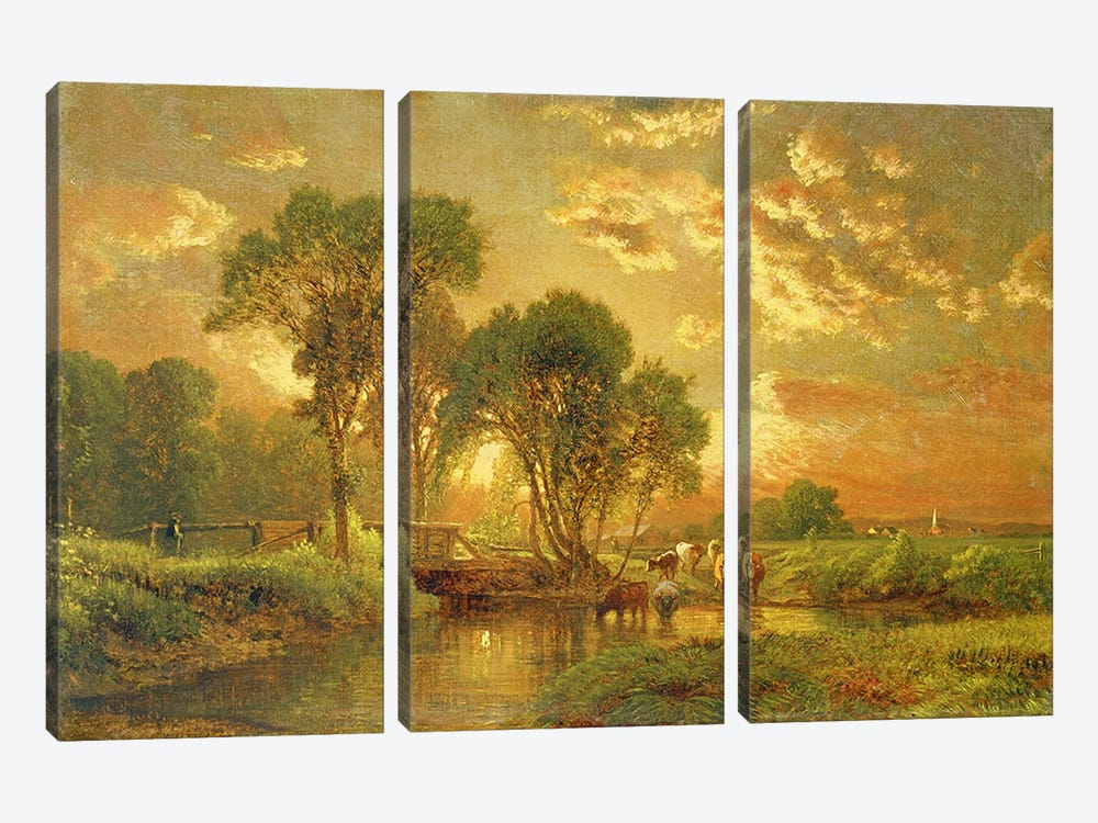 Medfield, Massachusetts by George Inness Sr. 3-piece Canvas Wall Art