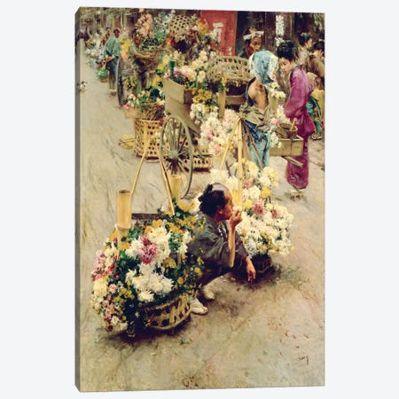 The Flower Market, Tokyo, 1892  Canvas Print #BMN4779} by Robert Frederick Blum Canvas Art