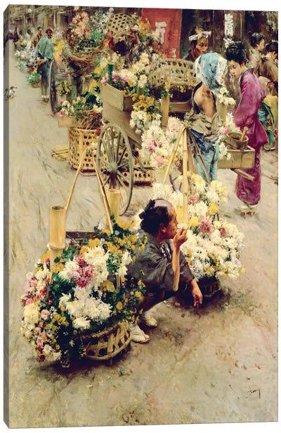 The Flower Market, Tokyo, 1892  Canvas Art Print
