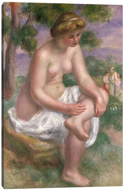 Seated Bather in a Landscape or, Eurydice, 1895-1900 Canvas Art Print