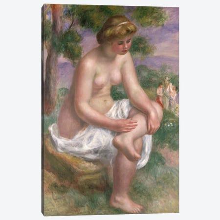 Seated Bather in a Landscape or, Eurydice, 1895-1900  Canvas Print #BMN477} by Pierre-Auguste Renoir Canvas Artwork