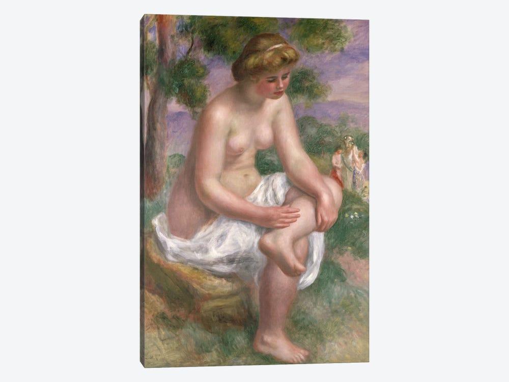 Seated Bather in a Landscape or, Eurydice, 1895-1900  by Pierre-Auguste Renoir 1-piece Canvas Artwork