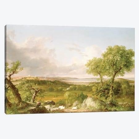 View of Boston  Canvas Print #BMN4781} by Thomas Cole Canvas Art Print