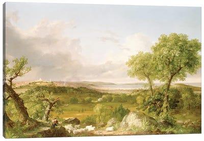 View of Boston  Canvas Art Print