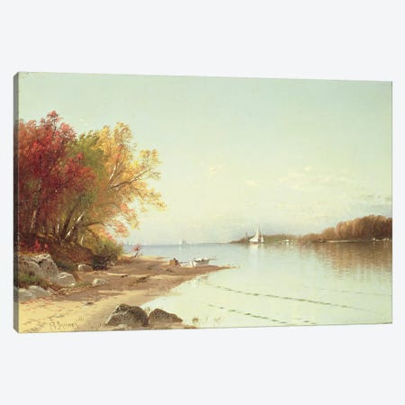 Narragansett Bay, Autumn, Rhode Island  Canvas Print #BMN4784} by Alfred Thompson Bricher Canvas Art