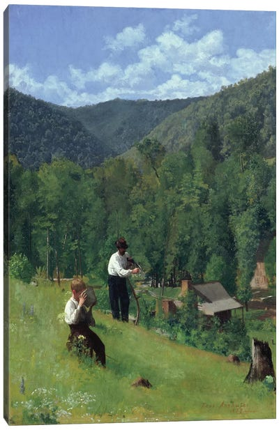 The Farmer and His Son at Harvesting, 1879  Canvas Art Print