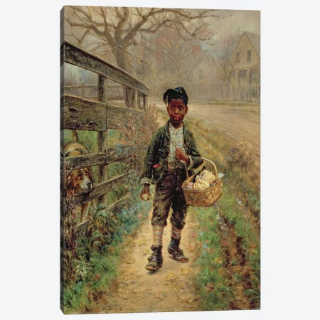 Protecting the Groceries, 1886  Canvas Print #BMN4788} by Edward Lamson Henry Art Print