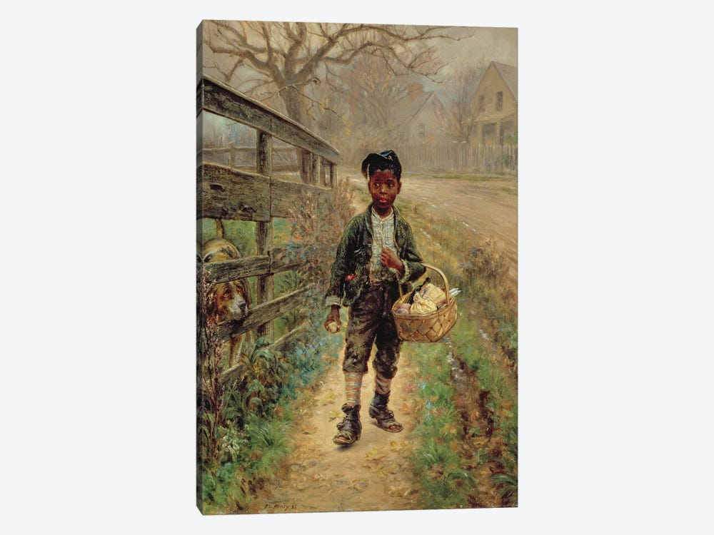Protecting the Groceries, 1886  by Edward Lamson Henry 1-piece Canvas Artwork