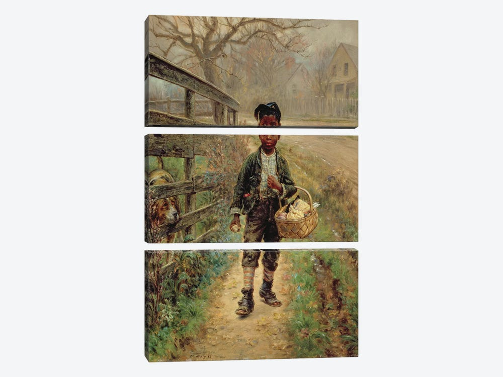 Protecting the Groceries, 1886  by Edward Lamson Henry 3-piece Canvas Artwork