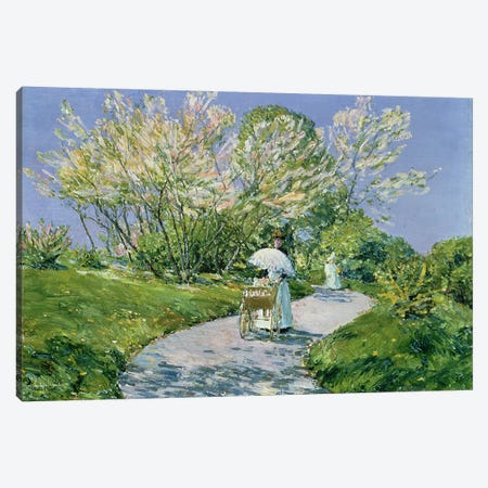 A Walk in the Park  Canvas Print #BMN4792} by Childe Hassam Canvas Wall Art