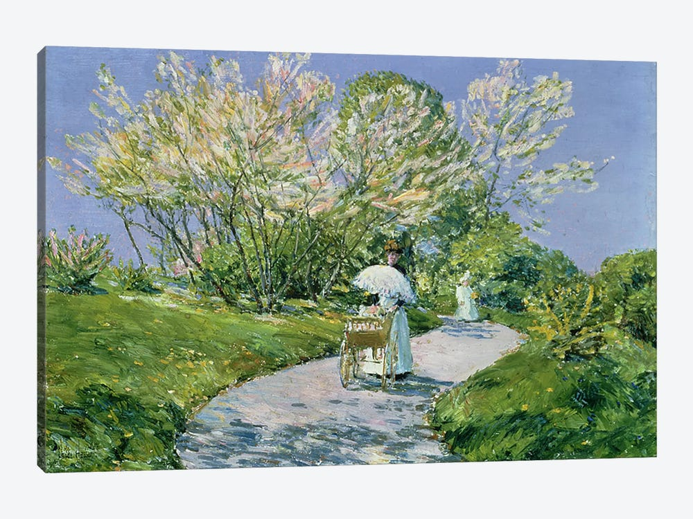 A Walk in the Park  by Childe Hassam 1-piece Canvas Art Print