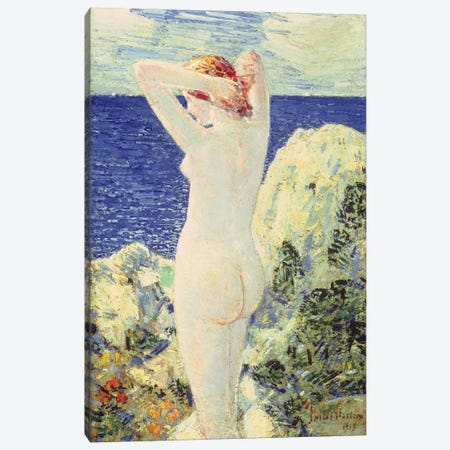 The Bather, 1915  Canvas Print #BMN4794} by Childe Hassam Canvas Print