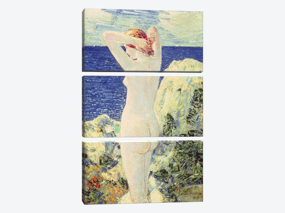 The Bather, 1915  by Childe Hassam 3-piece Canvas Print