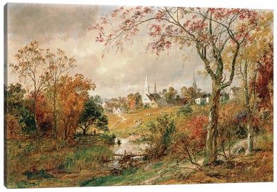 Autumn Landscape, Saugerties, 1886  Canvas Art Print