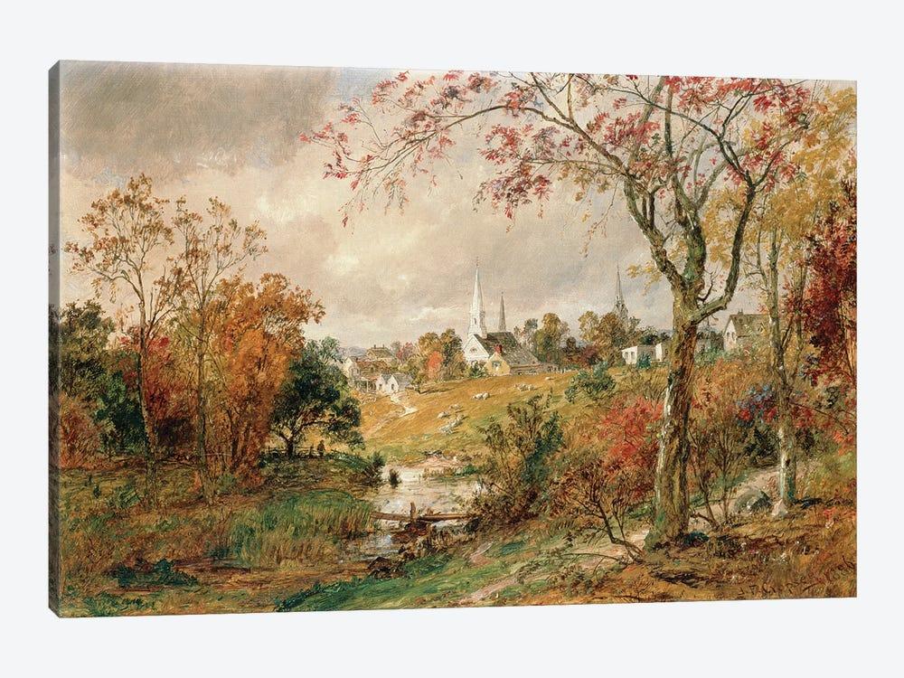 Autumn Landscape, Saugerties, 1886  by Jasper Francis Cropsey 1-piece Canvas Artwork