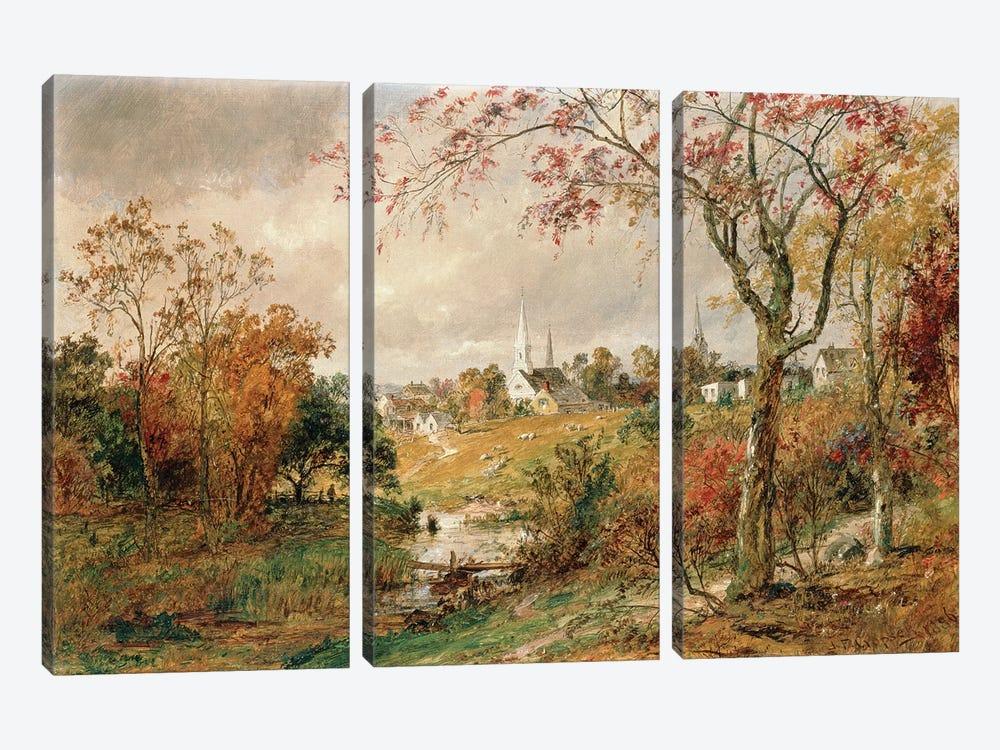 Autumn Landscape, Saugerties, 1886  by Jasper Francis Cropsey 3-piece Canvas Art