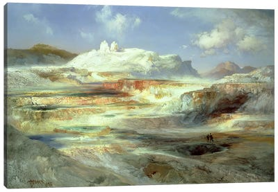 Jupiter Terrace, Yellowstone, 1893  Canvas Art Print