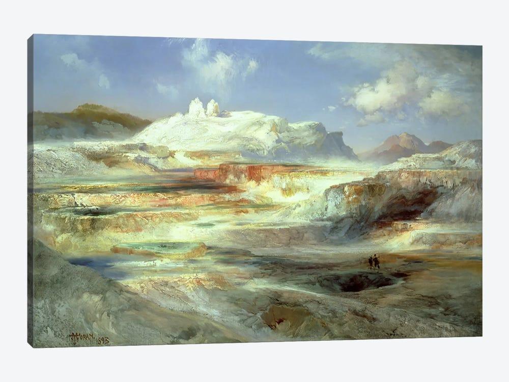 Jupiter Terrace, Yellowstone, 1893  by Thomas Moran 1-piece Canvas Artwork