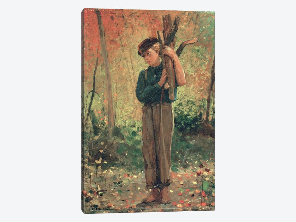 Boy Holding Logs, 1873  by Winslow Homer 1-piece Canvas Art Print
