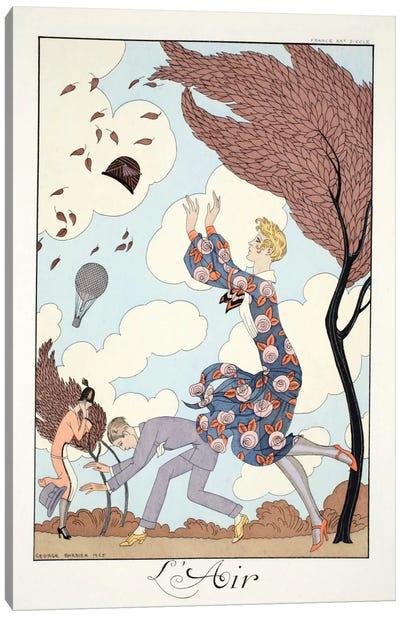Air, from 'Falbalas & Fanfreluches, Almanach des Modes Présentes Canvas Art Print