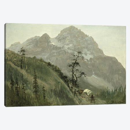 Western Trail, The Rockies  Canvas Print #BMN4800} by Albert Bierstadt Canvas Wall Art