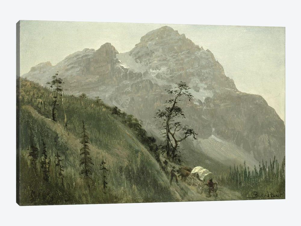 Western Trail, The Rockies  by Albert Bierstadt 1-piece Canvas Art