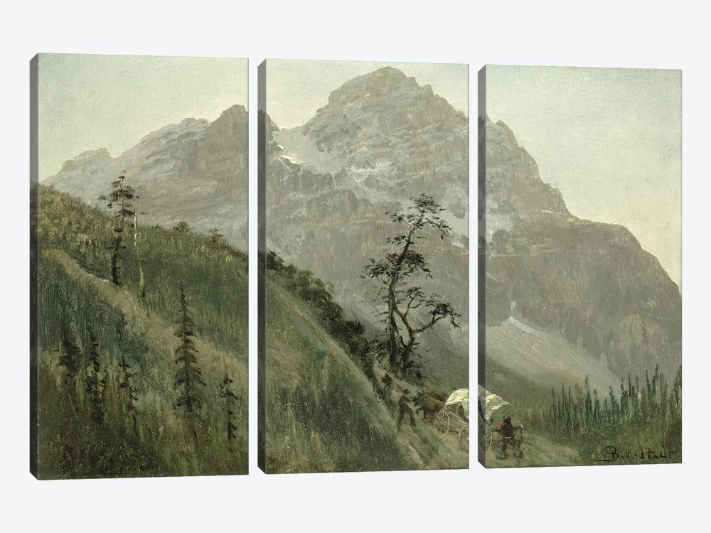 Western Trail, The Rockies  by Albert Bierstadt 3-piece Canvas Art