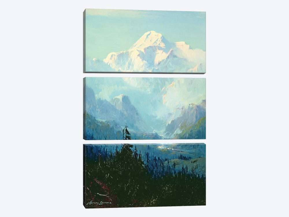 Mount McKinley  by Sidney Laurence 3-piece Canvas Art Print