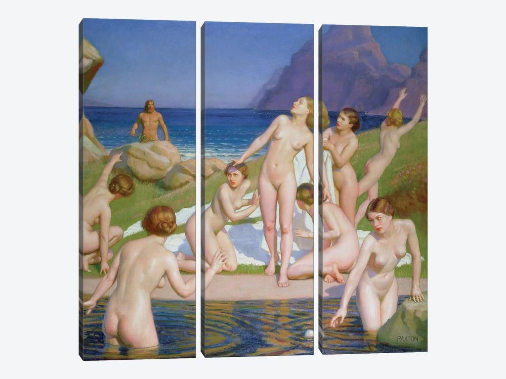 Nausicaa  by William McGregor Paxton 3-piece Canvas Artwork