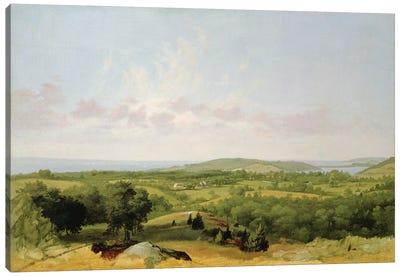 View of Narragansett Bay, Near Warwick, Rhode Island  Canvas Art Print