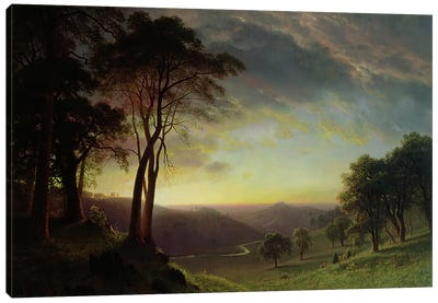 The Sacramento River Valley by Albert Bierstadt Canvas Art