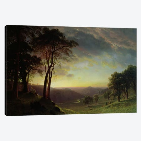 The Sacramento River Valley  Canvas Print #BMN4808} by Albert Bierstadt Canvas Art