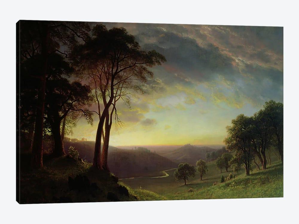 The Sacramento River Valley  by Albert Bierstadt 1-piece Canvas Wall Art