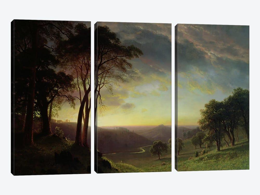 The Sacramento River Valley  by Albert Bierstadt 3-piece Canvas Artwork