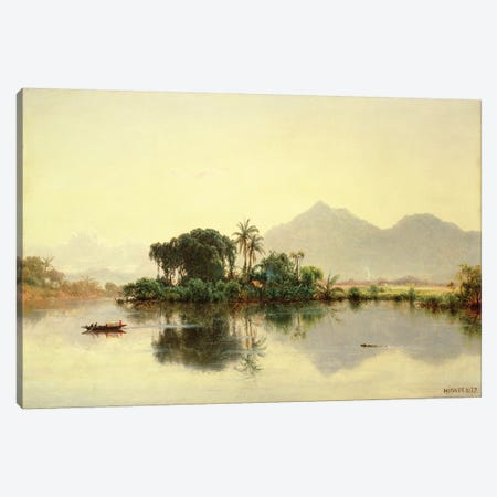 On the Orinoco, Venezuela, 1857  Canvas Print #BMN4809} by Louis Remy Mignot Canvas Wall Art