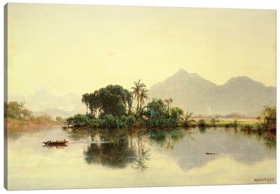 On the Orinoco, Venezuela, 1857  Canvas Art Print